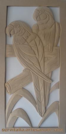 cuadro guacamayas tallado en madera cuadro guacamayas tallado en madera mdf de 12mm  densidad 600 tallado a mano,talla