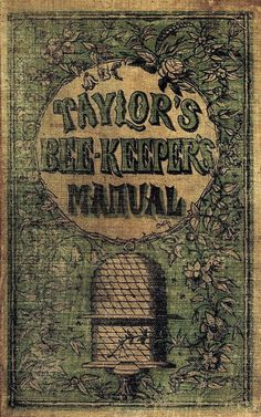 antique bee keeper's manual