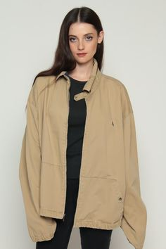 Ralph Lauren Jacket 80s Cafe Racer Polo Jacket Khaki by ShopExile