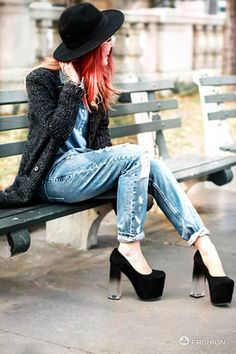 Denim outfit for fall