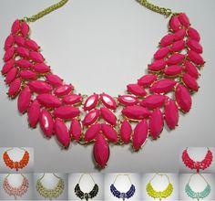 #Neu im Sortiment:  Unser #beliebtes chunky Collier gibt es nun auch in orange und dunkel pink VK 8,95€ http://ebay.eu/1loUraS