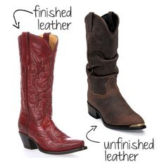 How to wash leather boots: finished vs unfinished leather Cleaning Leather Boots, Cowgirl Boots, Western Boots, Clean Boots, Country Outfitter, Just In Case, Cleaning Shoes, Shoe Boots, Leather Products