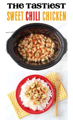Crockpot Dinner Ideas! This slow cooker sweet chili chicken is the tastiest addition to your weeknight menu. Go give it a try this week! Salsa Verde Chicken Recipe, Chicken Teriyaki Recipe, Easy Crockpot Chicken, Easy Chicken Recipes, Easy Appetizer Recipes, Easy Dinner Recipes, Easy Recipes, Popular Recipes, Dinner Ideas