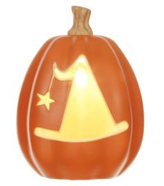 Maker's Halloween Large Light Up Pumpkin Witch Hat with Star