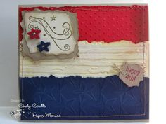 Tattered Flag by KY Southern Belle - Cards and Paper Crafts at Splitcoaststampers