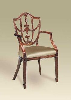 My Dining Room Chairs Carved Polished Mahogany Finish Hepplewhite Shield Back