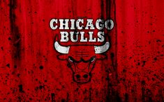Download wallpapers Chicago Bulls, 4k, grunge, NBA, basketball club, Eastern Conference, USA, emblem, stone texture, basketball, Central Division