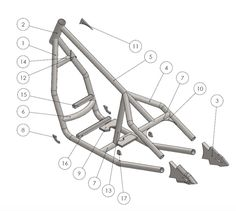 Our rigid bobber frame assembly guide which shows how to build the frame using a…