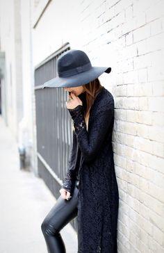 Black laced cardigan... love!