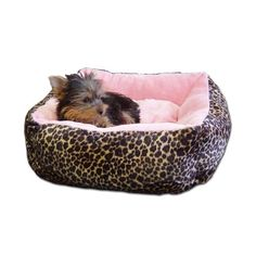 Anima Pink Ultra Plush Leopard Print Bed with Removable Pillow 16 by 16 by 55Inch *** Check out this great product.(This is an Amazon affiliate link and I receive a commission for the sales)
