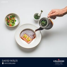 David Wälti from Eisblume restaurant in Worb will represent Switzerland with his signature dishof salmon trout with herbal tea and marinated raw vegetables.