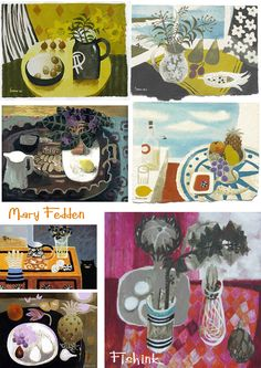 Mary Fedden - one of my favourite artists, incorporated a lot of fruit and veg into her work.
