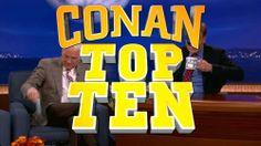 """Steve Martin Does Conan's Famous """"Top Ten"""" List. Team Coco http://teamcoco.com/video/conan-highlight-steve-martin-top-ten"""