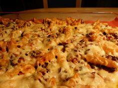 Ovenschotel met pasta gehakt en verse groente