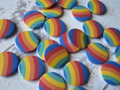 Gay pride rainbow badges going out in today's post. Available from