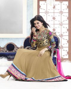 Sushmita sen brown anarkali dress
