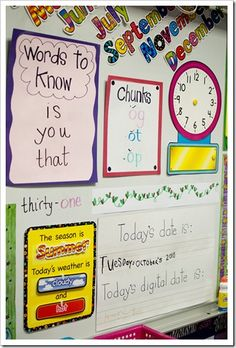 A great way to keep your class organized! They used CTP's Poppin' Patterns Calendar Set.