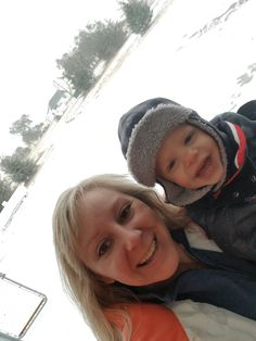first snow of the winter. Little Q is a very happy little guy!The first snow of the winter. Little Q is a very happy little guy! Let Them Be Little, First Snow, Winter Is Here, Mom Blogs, My Sunshine, Winter Hats, Baby Boy, Parenting, Guys