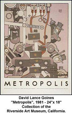 David Lance Goines print, Metropolis.