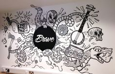 Illustration / Some stills of the piece at Brave AS FEATURED ON THE APPRENTICE!If you need a bally good agency they s yo peeps.http://www.brave.co.uk