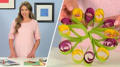How to make a Decorative flower with paper. Tutorial for a decorative paper flower with the Dahle 505