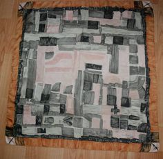 JEANNE LANVIN by Castillo vintage 50 s abstract print scarf 30