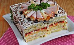Συνταγές για μικρά και για.....μεγάλα παιδιά: Η πιο εύκολη αλμυρή τούρτα με ψωμί του τόστ! Party Finger Foods, Finger Food Appetizers, Appetizer Recipes, Snack Recipes, Snacks, Sandwich Cake, Sandwiches, Salty Cake, Greek Recipes