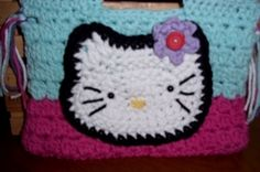 Hand Crocheted Kitty Purse-Robins Egg Blue and Hot Pink