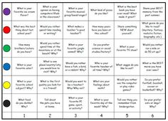 Fern's Freebie Friday ~ Getting to Know You Game!