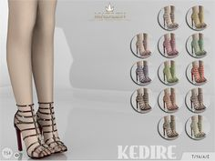 Madlen Kedire Shoes by MJ95 at TSR via Sims 4 Updates
