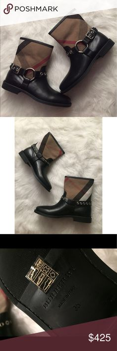 New Burberry London 'Queenstead' Boots Brand new without tags. 100% authentic. Comes with original box. Burberry Shoes