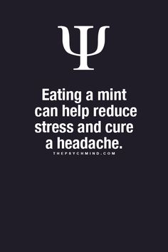This actually works! Whenever I'm stressed or going to do something stressful, I eat a mint and it calms me down right away!