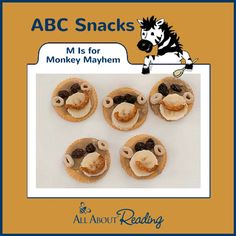 M Is for Monkey Mayhem - An ABC Snack from All About Reading