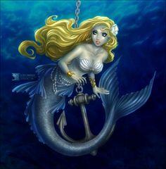 Blue Girl + Silver Anchor by daekazu on DeviantArt