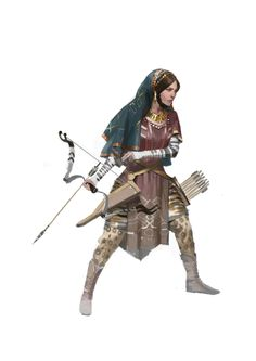 ArtStation - bakhtiaries , Faraz Shanyar female archer / ranger with technical bow, large quiver and elaborate outfit character inspiration for DnD / Pathfinder Female Character Concept, Fantasy Character Design, Character Inspiration, Character Art, Story Inspiration, Dnd Characters, Fantasy Characters, Female Characters, Fantasy Figures