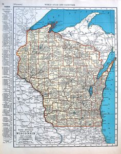 Official Highway Map Of Wisconsin Map Or Atlas Wisconsin - 1934 us highways map midwest