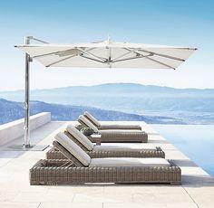 10' Tuuci® Ocean Master Max Cantilever Square Polished Titanium Umbrella
