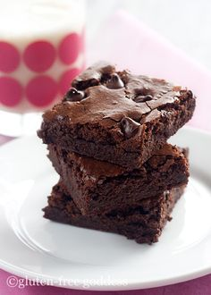 Dark Chocolate Brownies- The Best Gluten-Free Recipe Updated! | Gluten-Free Recipes | Gluten-Free Goddess  Try this one first!!!