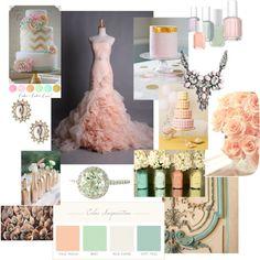 Pastel Wedding Mood Board