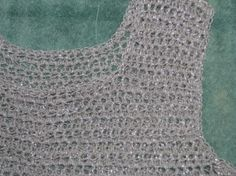 Crocheted Chainmail Tunic - will need to modify to make it smaller