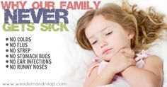 A long time ago, I discovered how I could guard my family from getting sick without employing chemicals and using only all-natural substances. Here's how!