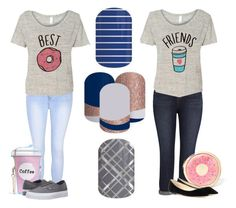 """""""BEST FRIEND SETS"""" by kspantongroup on Polyvore featuring Glamorous, Melissa McCarthy Seven7, Forever 21, Vans and Jimmy Choo"""