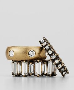 Ann Taylor Gold Stacked Ring Set