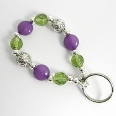 Scentsy Colored Beaded Key Chain Bracelet with Bling
