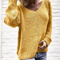 V Neck Long Sleeve Plain Knitting Casual Sweaters UP TO 80% Off you really don't want to miss Free Shipping Over $59 #sweaters #sweater #fashion #sweaterweather #fall #style #clothing #shoes #olshopmurah #cardigan #dresses #ootd #clothes #fallfashion #autumn #fashionblogger #shirts #streetfashion #streetwear #streetstyle #fashion #style