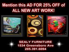 SEALY FURNITURE 1534 GREENSBORO AVE. TUSCALOOSA, ALABAMA   205.391.6094 Tuscaloosa Alabama, Furniture Outlet, All Art, Home Accessories, Artwork, Work Of Art, Auguste Rodin Artwork, Home Decor Accessories, Artworks