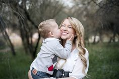 Hoop Hangout - Mother Son Photo - Black White Red Argyle Denim Picture Outfits - J. Ashton Photography