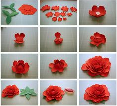 More 3D Paper Flowers!
