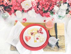 Mimosas, heart-shaped pancakes and pretty florals, oh my!