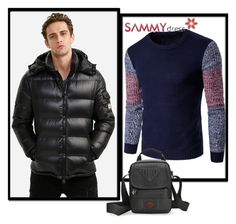 """""""Jacket for Men"""" by dzemila-c ❤ liked on Polyvore featuring sammydress"""